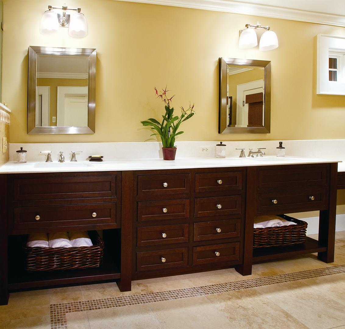 Custom bathroom vanities designs - Simple And Elegant Omega Cabinetrys New Sojourn Suite Bathroom