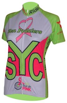 charity ride womens bicycle jersey