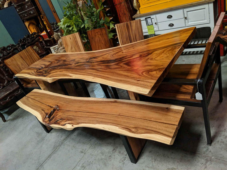 Live Edge Slab Wood Dining Tables - Decor Direct Wholesale