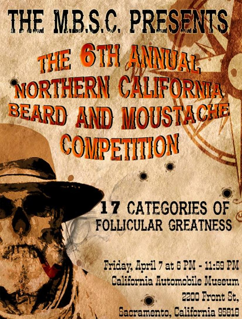 MBSC Presents the 6th Annual Northern California Moustache and Beard Competition