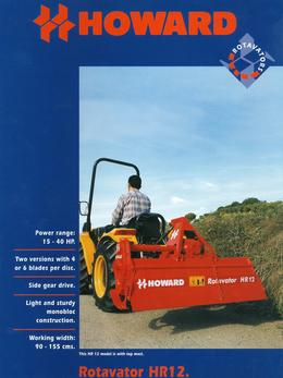 Howard Rotavator Model HR12 Brochure