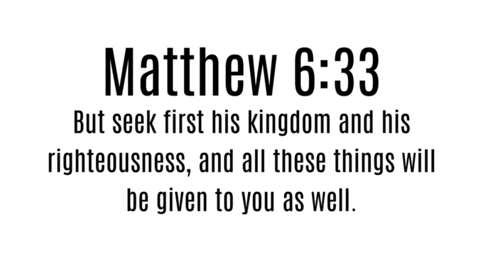 Image result for matthew 6:33