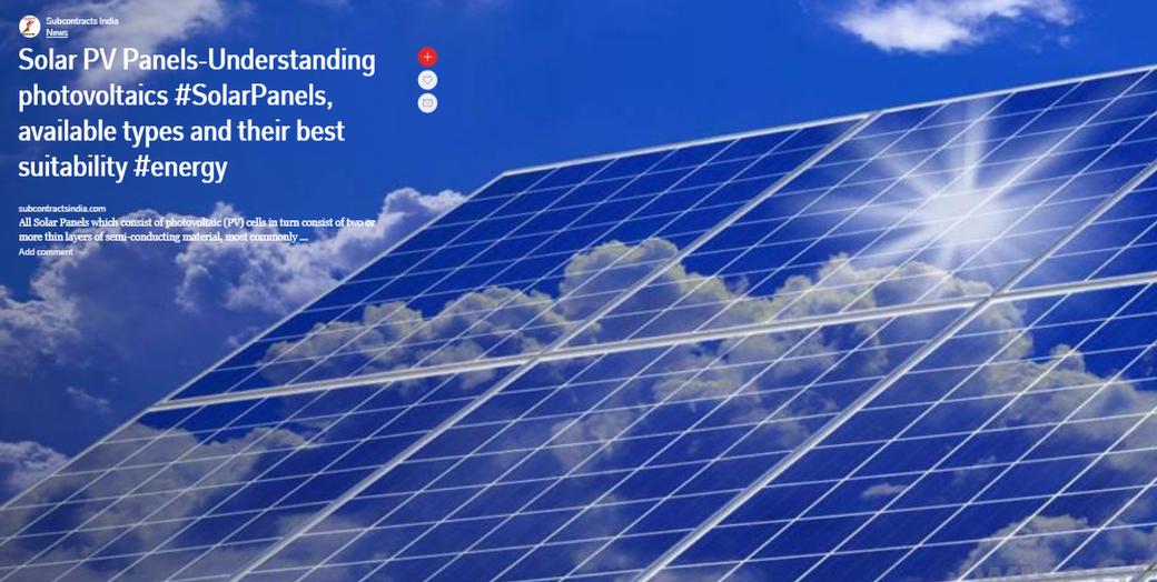Solar PV Panels-Understanding photovoltaics #SolarPanels