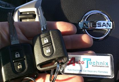 Nissan replacement remote keys