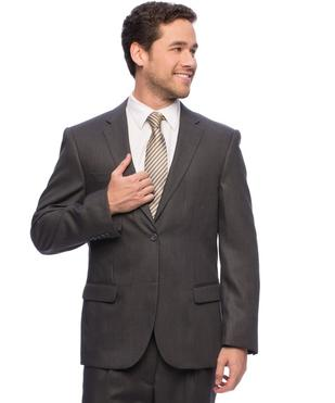 The Wedding Parlour carries the Caravelli Italian suit line for purchase in black, grays, navy and tan.