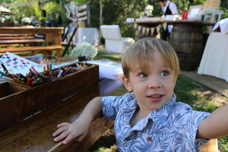 Rustic Parties Kids Farm Table and Bench rentals Orange County Southern California