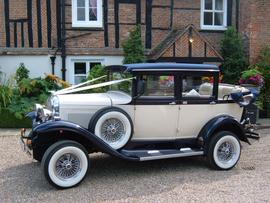 Wedding Car Hire Essex Badsworth Landaulette saloon Blue ivory