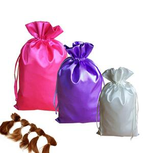 hair extension satin bag