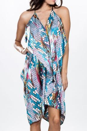 Resort Print Silk Dress