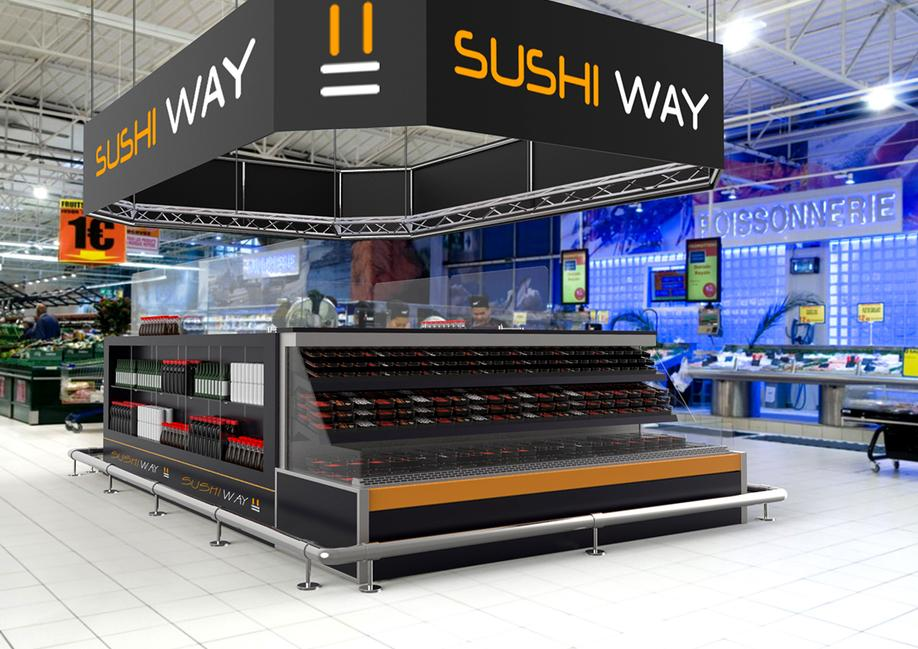 SUSHI WAY FOOD MODELLAZIONE 3D MODEL RENDERING DESIGN PROJECT DESIGN107