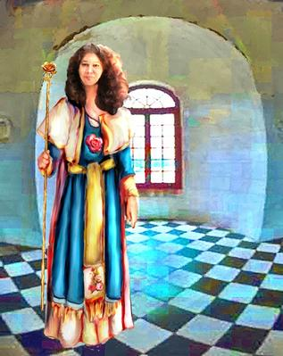 Sofia La Maga character study, fantasy fiction, graphic novel, book illustration., copyright Dee Rapposelli