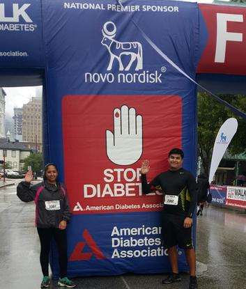 Alain & Monica at the Support Houston's Diabetes's Association Marathon