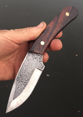 How to make a High Carbon Steel Hunter knife with metal etched blade texture. FREE step by step instructions. www.DIYeasycrafts.com