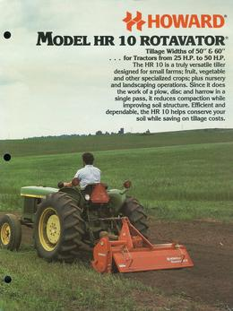 Howard Rotavator Model HR10 Brochure