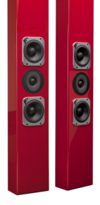 Totem on wall speakers, subwoofers
