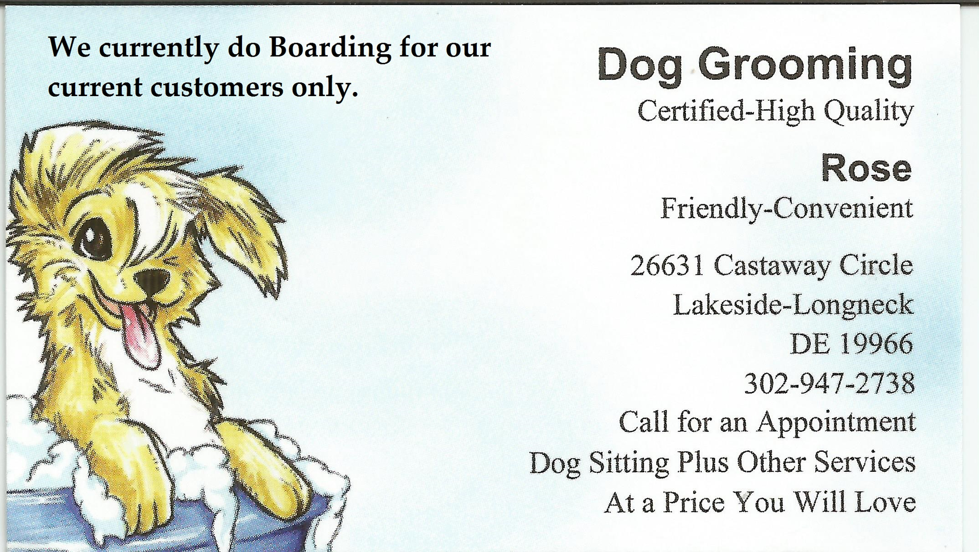 Lovely pics of dog grooming certification business cards and resume munity news from dog grooming certification image source pnhoa xflitez Image collections