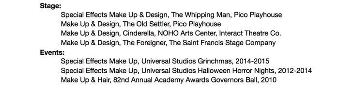 Resume/IMDb