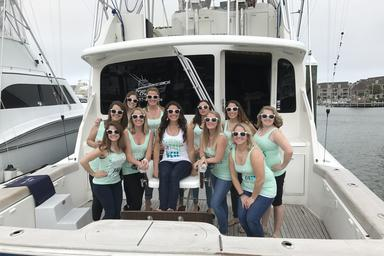 Knot Tell'n Charters bachelorette party