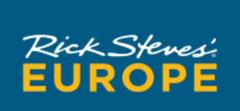 rick steves text logo, link to his podcast website