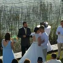 NC wedding officiant, John May, amazing amayzing entertainment