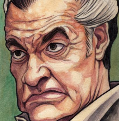 Watercolor painting of Paulie Walnuts from The Sopranos