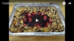 Cranberry-Walnuts-Green Apple Sauce