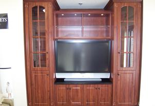 Media Center with storage unit attached