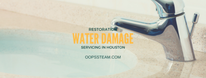 water damage restoration service featuring a bathroom flooded