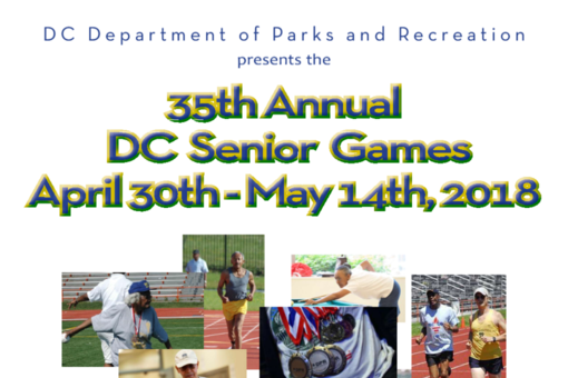 DC Senior Games 2017 Poster