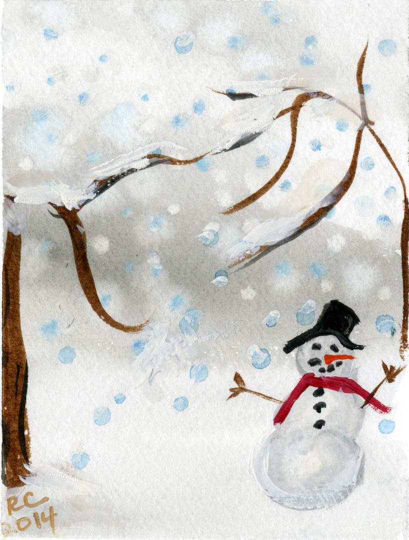Holiday Greeting Cards Original Art