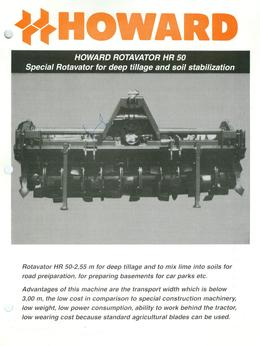 Howard Rotavator Model HR50 Brochure