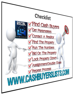 Cash Buyers Lists - Cash Buyers Real Estate Checklist
