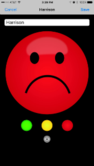 Tizzy Tamer Red Sad Face iOS App