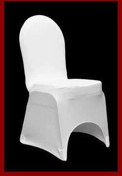 SPANDEX WHITE CHAIR COVER