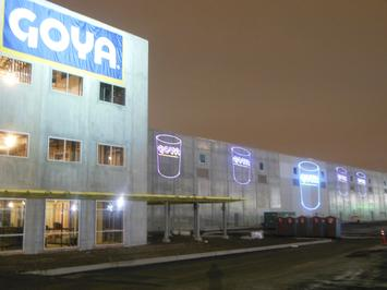 Goya Foods - 2014 Super Bowl Weekend illumination with PAWN LASERS