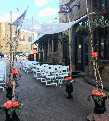 Birch Chuppah Wedding Ceremony Decor at Bar Lurcat MN