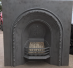 The same old fireplace after sandblasting