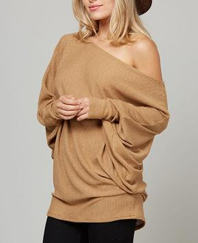 Autumn Wheat Drape Top