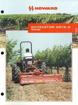 Howard Rotavator Model HR16-D Brochure