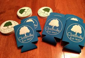 Clintonville Koozies & Coasters Set