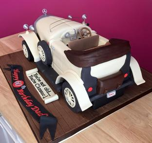 60th birthday for Mercedes benz cake design