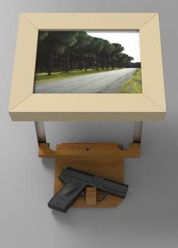 Secret hidden compartment Picture Frame Gun Safe. www.DIYeasycrafts.com