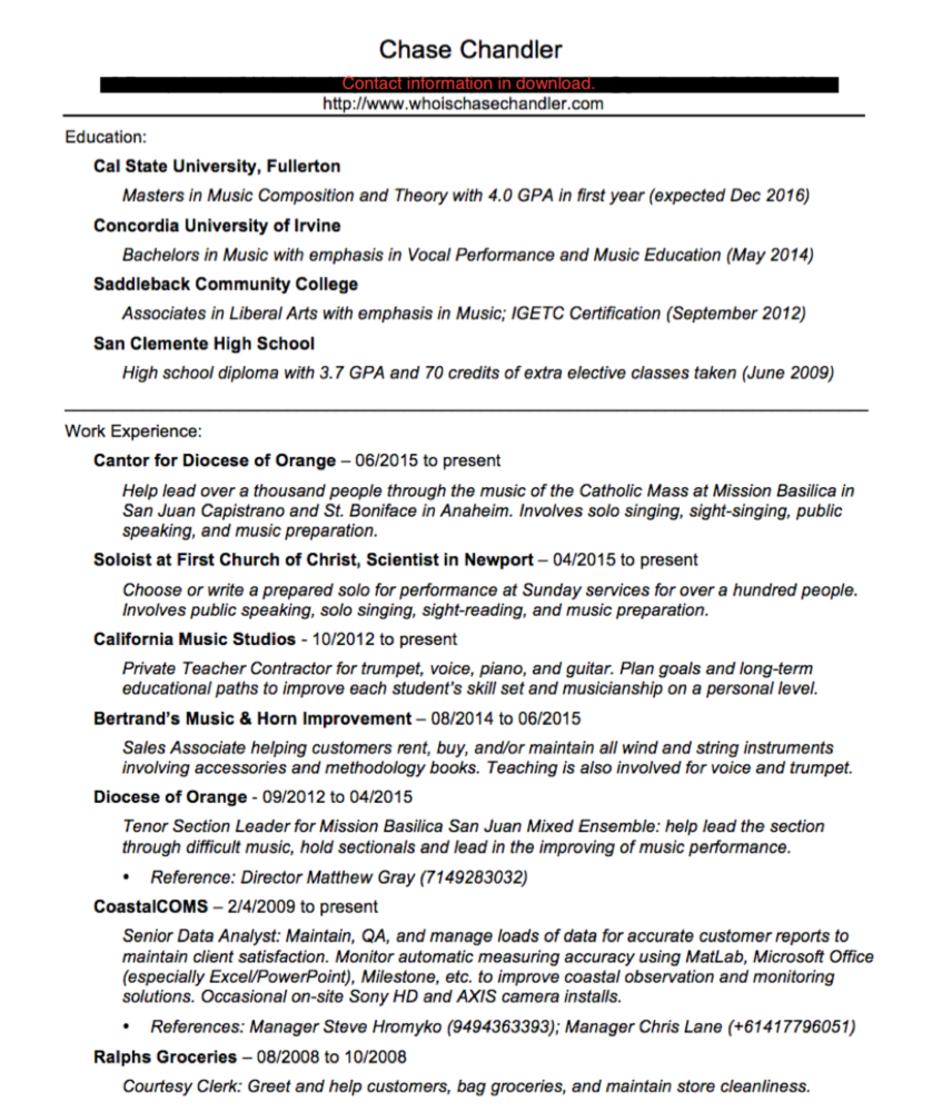 liberal arts resume resume 2016 interactive shaun johnson doc