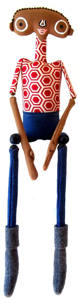 handmade dolls, marionette, nursery decor, Twig Kids, folk art