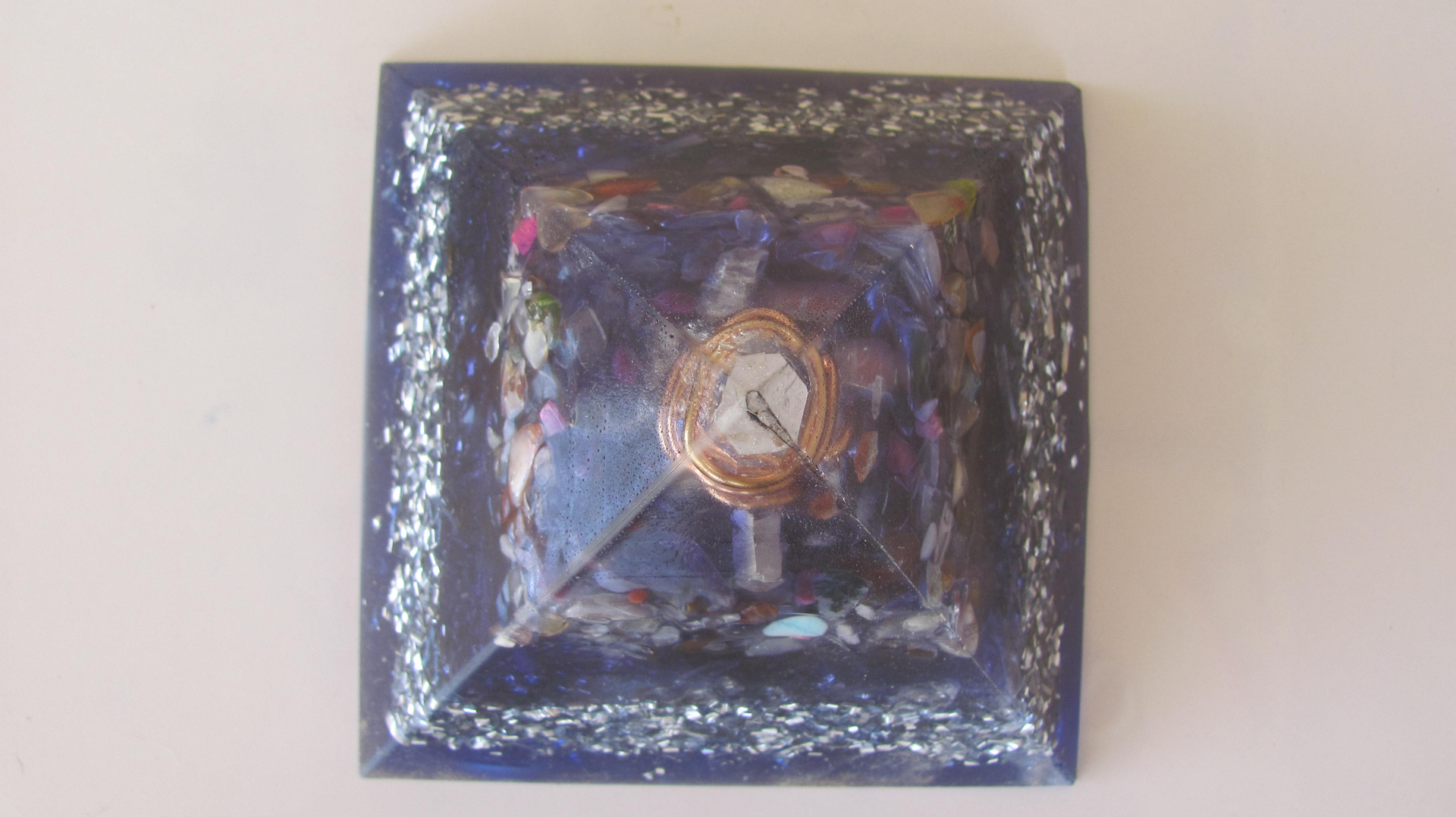 Pyramids Copper To Aluminum Wiring A Double Terminated Clear Quartz Crystal Wrapped Three Times In Wire Is Placed The Crown Position Of This Multi Layer Pyramid