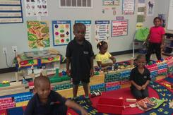 Pre-k Students playing in their room