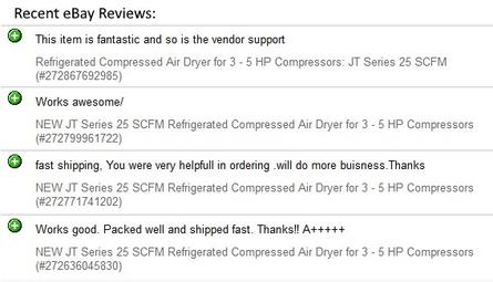 Recent eBay Reviews - Click to go to our eBay Page