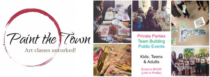Paint The Town Ottawa. Social, corporate, public events. Art for Everyone