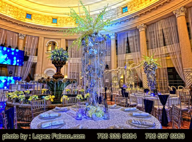 Colonnade Quinces Party Coral Gables Westin Colonnade Hotel Venue Miami Quinceanera quince Sweet 15