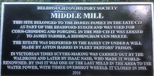 Picture of Middle Mill plaque